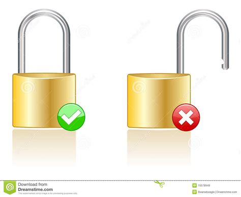 Lock Icons Eps Stock Vector. Image Of Drawings, Gray