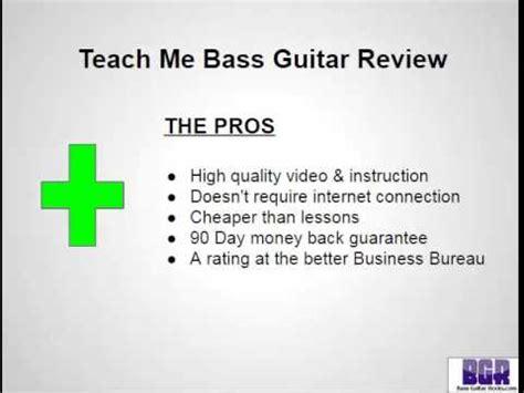 teach  bass guitar review youtube
