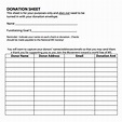 Donation Sheet Template – 8+ Free Samples , Examples , Format