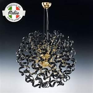 Lustre Metal Noir : lustre astre 8 lumi res noir et or 15 coloris disponibles metallux ~ Teatrodelosmanantiales.com Idées de Décoration