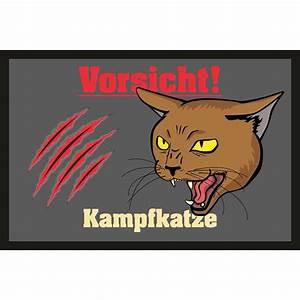 Fußmatte Mit Spruch : t rmatte fu matte mit motiv spruch kampfkatze 16 95 ~ Watch28wear.com Haus und Dekorationen