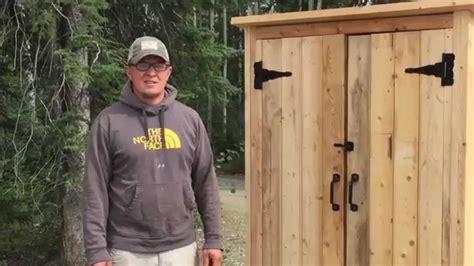 build  wood smokehouse  outdoor closet youtube