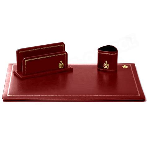 parure de bureau cuir bordeaux n 176 10 collection napol 233 on