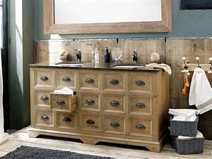 Meuble De Maison : 12 beaux meubles sous vasque en bois joli place ~ Teatrodelosmanantiales.com Idées de Décoration