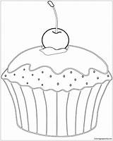 Coloring Muffin Pages Banana Split Cherry Desserts Para Sheet Cupcake Printable Supercoloring Muffins Donut Colorir Ausmalen Template Mit Zum Google sketch template