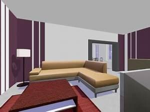 deco salon salle a manger couleurs With exemple de salon salle a manger