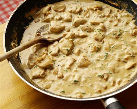 cuisiner filet de poulet recette filets de poulet aux chignons facile à cuisiner