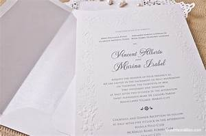 philippines wedding invitation cobypiccom With paper for wedding invitations philippines