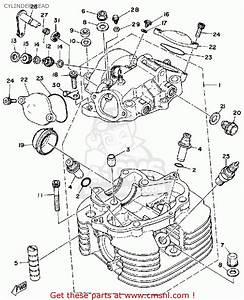 Yamaha Sr500h 1981 Cylinder Head