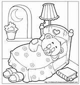 Coloring Sleepover Bear Teddy Sleep Goodnight Pajama Slumber Invitations Printable Holidays Bed Tight Rocks Colorluna Invitationsforsleepoverparty Bag Quiet Perfect Sheets sketch template
