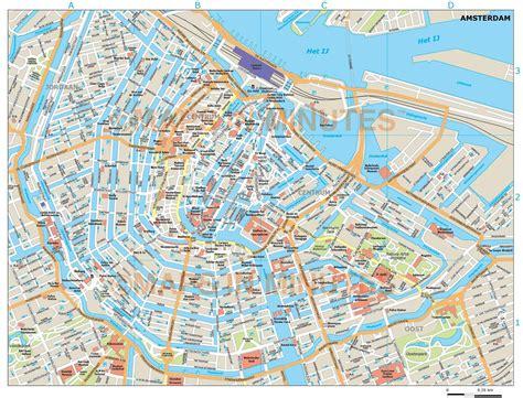 vector amsterdam city map  illustrator   digital