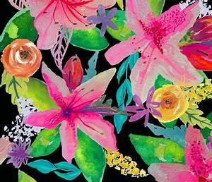 Neon Azelea Garden wallpaper theartwerks