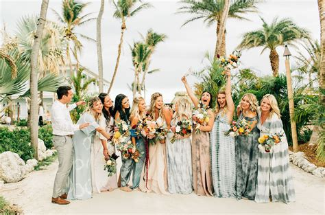 tropical laid back beach front wedding in the florida