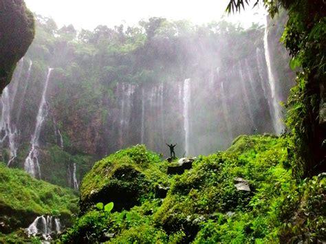 wisata air terjun coban grojogan sewu pujon malang jawa