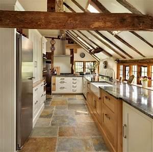 Deco Cuisine Bois : poutres bois dans la cuisine un d cor authentique et chaleureux ~ Melissatoandfro.com Idées de Décoration