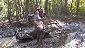 Barefoot Mud Riding On A 4 Wheeler    Quad