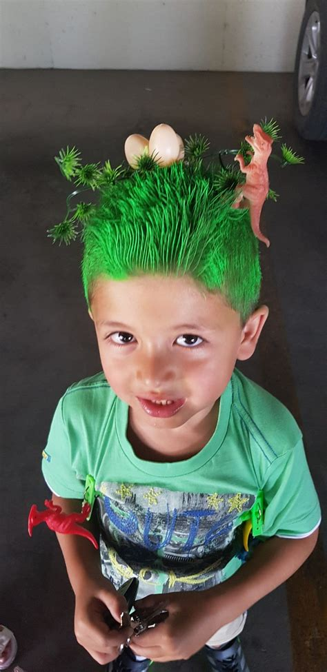 Crazy Hair Day For Boys Dinosaurs Hairstyles By Me In