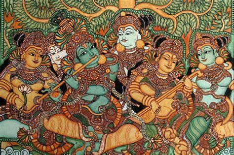 kerala mural artists heritage of india kerala mural paintings