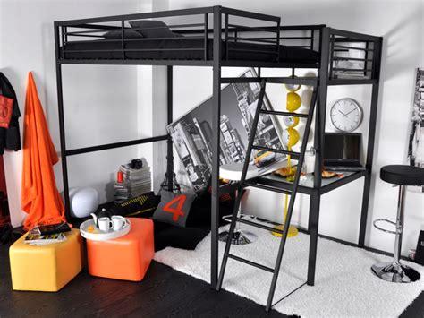 lit surélevé avec bureau intégré lit mezzanine casual ii 2 personnes bureauoption matelas
