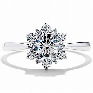 snowflake diamond rings wedding promise diamond With snowflake wedding ring set