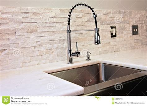 faucet for sink in kitchen modern kitchen detail stock photo image 40079728