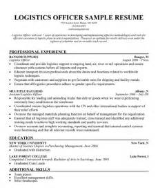 logistics manager resume template it cover letter sle