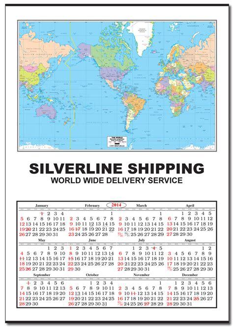 jumbo world map calendar calendar company
