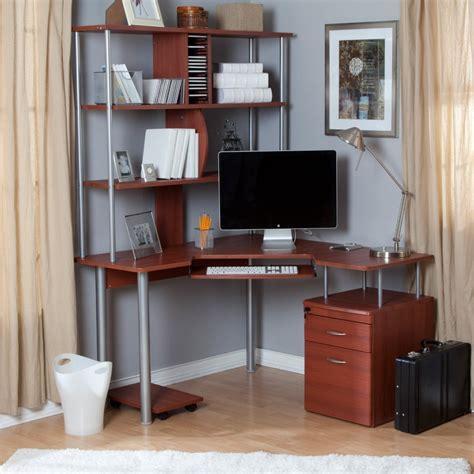 small computer desks for home corner desk with shelves design homesfeed