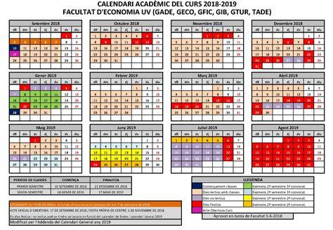 calendario de la facultad de economia