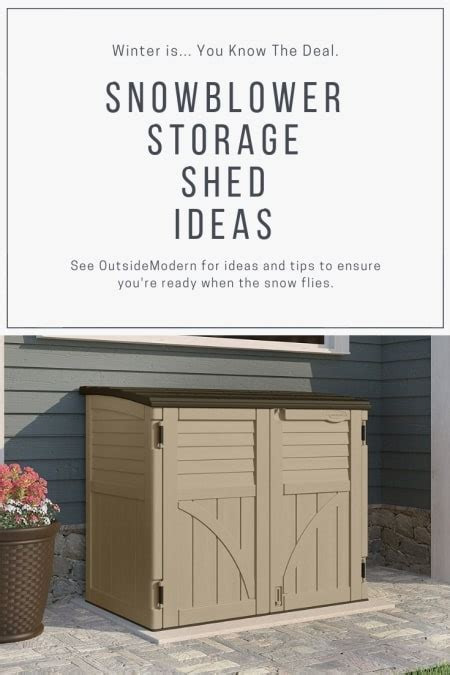 snowblower shed snowblower storage shed snowblower storage ideas