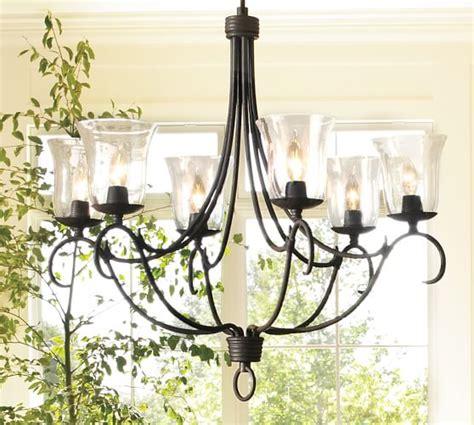 pottery barn lighting chandelier cecilia hurricane chandelier pottery barn