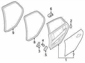 2012 Ford Focus Door Seal  W  O Rs  W  Rs  Body  Strip  Rear