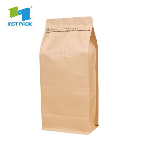They come in white you can add further style to any of these coffee bags with your logo. Wholesale High Quality Custom Printed Packaging Biodegradable Block Bottom Kraft Paper Coffee ...