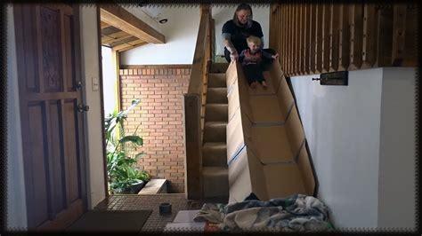 Diy Indoor Cardboard Stairs Slide Cute Toddler Sliding