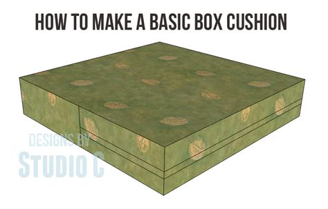 how to make a cushion how to make a basic box cushion