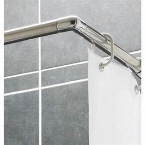 Barre De Baignoire D Angle A Ventouse : tringle pour rideau de douche ajustable presto bricozor ~ Premium-room.com Idées de Décoration