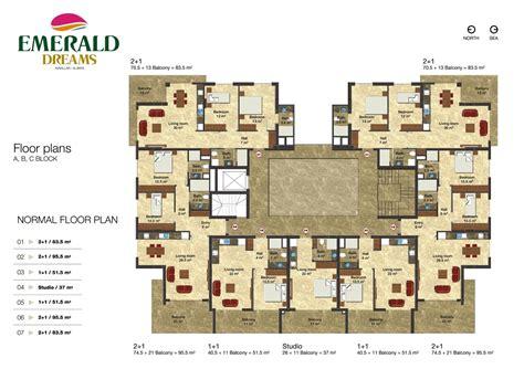 emerald dreams alanya floor plans