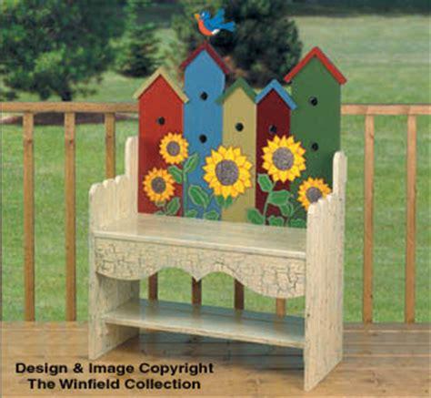 bird project plans patterns birdhouse bench