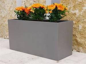 Pflanztrog Aus Beton : pflanztrog aus fiberglas in grau metallic 100x40x50 cm bei east west trading ~ Sanjose-hotels-ca.com Haus und Dekorationen