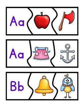 beginning sounds matching puzzles    images