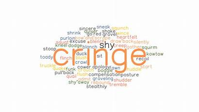 Cringe Synonyms Word Words Another Related Grammartop