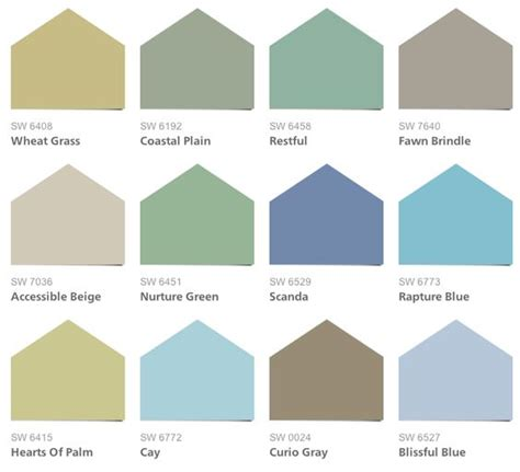 sherwin williams coastal cool colors dining room
