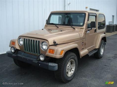 desert jeep wrangler desert sand pearl 2000 jeep wrangler sahara 4x4 exterior