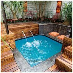 piscinas pequenas piscinas  deck de madeira piscinas pinteres