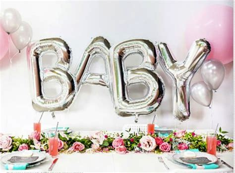 cute balloon decorations  baby showers shelterness