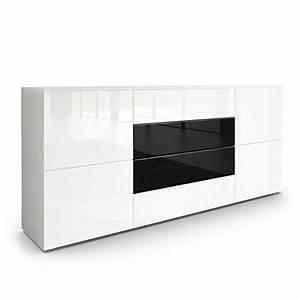 Sideboard Schwarz Matt : sideboard kommode rova korpus in wei matt fronten in wei hochglanz und schwarz hochglanz ~ Orissabook.com Haus und Dekorationen