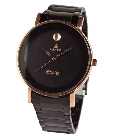 lenco titan edge black analog formal watch available at
