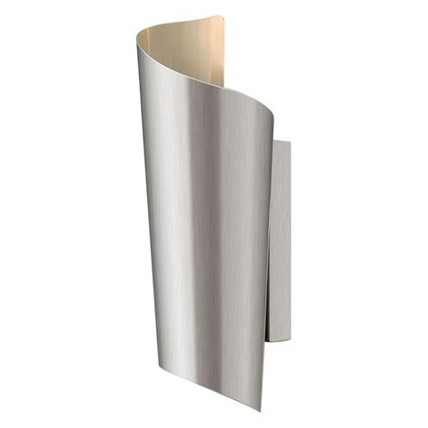 modern led outdoor wall light in stainless steel finish