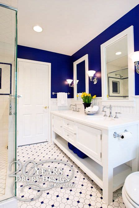 Blue Bathroom Paint Colors by Obsessed W This Entire Bathroom The Contrast Of