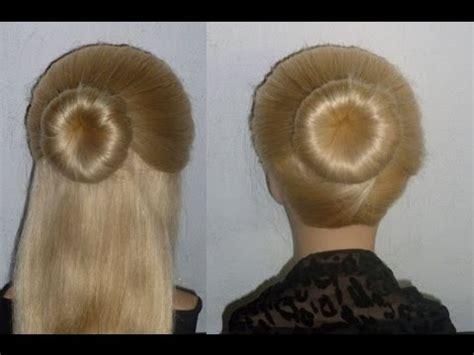 haar dutt machen schnelle frisur dutt selber machen alltag arbeit schule freizeit peinados donut hair bun